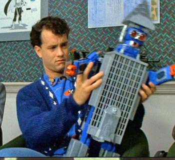 Tom Hanks con un robot-edificio
