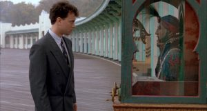 Tom Hanks con Zoltar