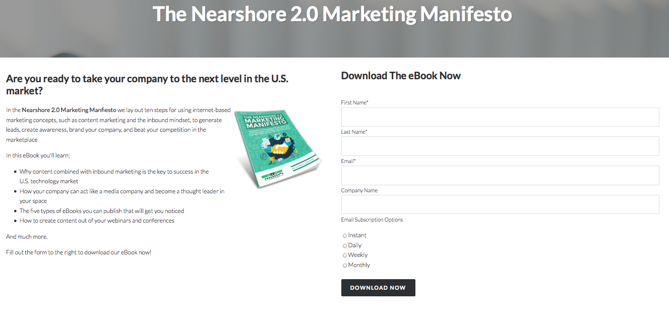 Content Propulsion: The Nearshore 2.0 Marketing Manifesto
